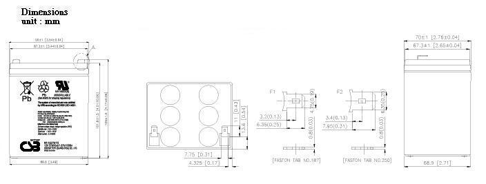 HR1227W dimensiones