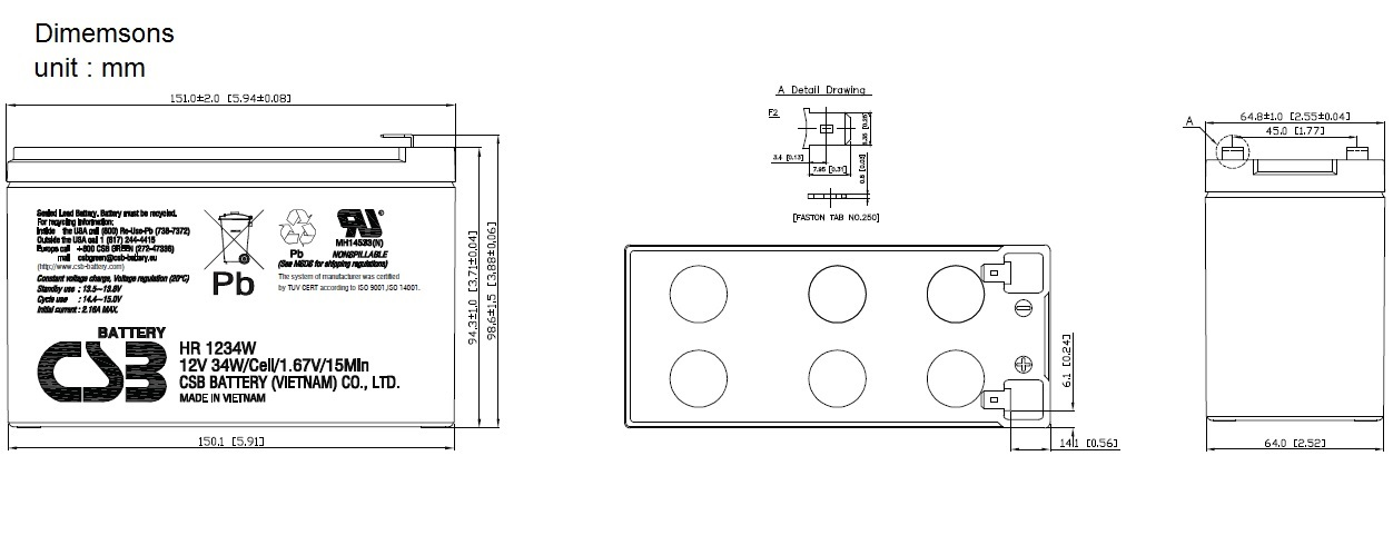 HR1234W dimensiones