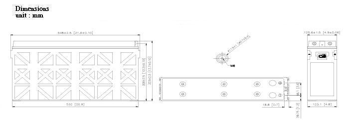 TPL121250A dimensiones
