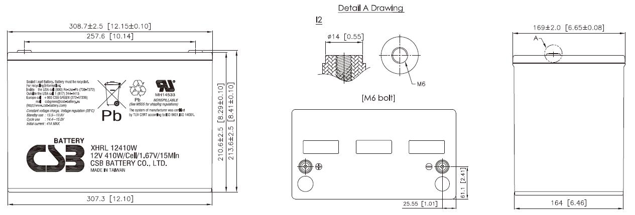 XHRL12410W dimensiones